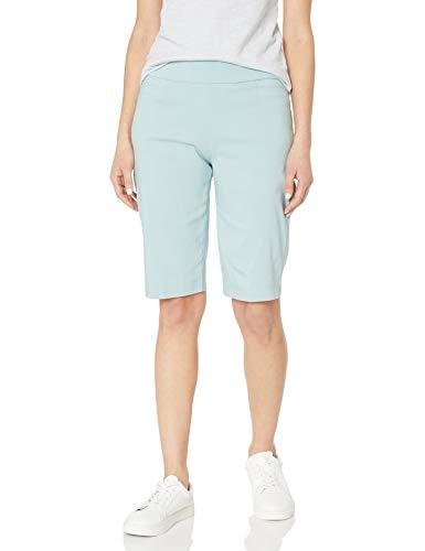 Briggs New York Damen Women's Super Stretch Millennium Pull On Skimmer Bermuda Shorts, Sea Glass, 44