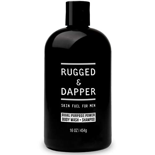 RUGGED & DAPPER Dual Purpose Power Body Wash & Shampoo for Men | Fresh Non-Toxic Scent for an All-Over Clean - 16 Oz