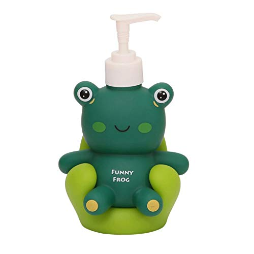 NYKK Seifenspender/Flüssigseifen-Spender Pig Frog Ente Nette Tierseifenspender mit Pumpe Seife Flasche oder Lotion-Flasche, Hauptdekoration Lotionspender (Color : Green)