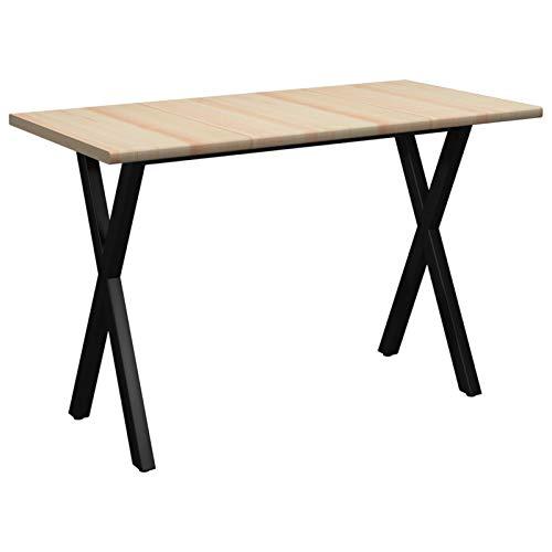 Tidyard Tavolo da Pranzo 120x60x76 cm in Legno di Pino,Perfetto Come Tavolo da Campeggio, da Buffet, da Cucina
