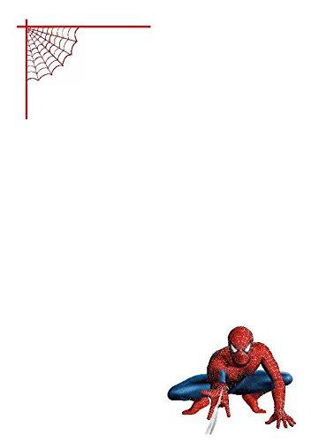 50 A5 Spiderman Web vidéo sur le thème écriture Petits Établissements papier – Uni papeterie