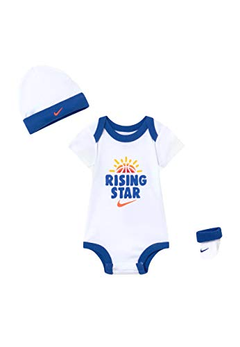 Nike Conjunto de 3 piezas para bebé, gorro y calcetines con diseño de estrellas - - 6-12 meses