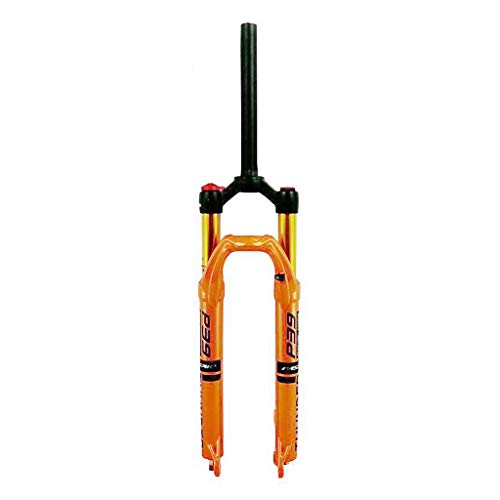 VXXV MTB Suspension Fork 26/27.5/29 Inch, Air System Manual Lockout for Mountain Road Cycling - Orange (Size : 26 inch)