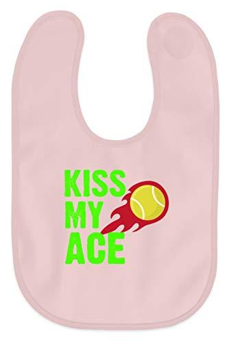 Küss Mein As - Kiss My Ace - Baby Lätzchen -Einheitsgröße-Puder Rosa