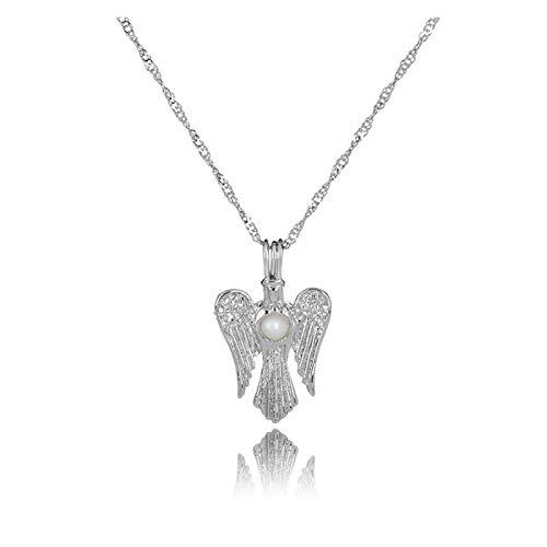Collar delicado para mujer Collar para mujeres, cadena de clavícula de perla de ángel, moda colgante de collar simple para joyería de niñas, regalos para aniversario de cumpleaños Día de San Valentín