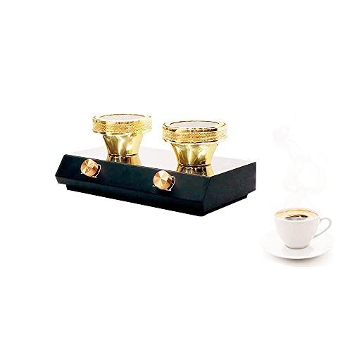 YUCHENGTECH Calefactor de haz halógeno con sifón para café (110 V, 2 calentadores)