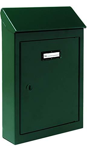 Vigor Cassetta per Lettere Lamiera Nr. 2, Verde, 18 x 5 x 26 cm