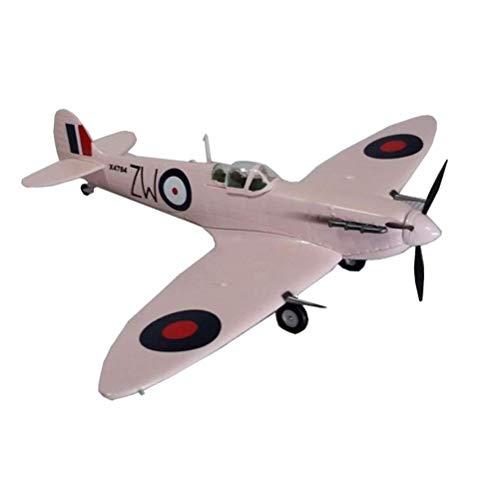 JHSHENGSHI Plastikmodell im Maßstab 1:72, militärisches Britisches Spitfire MKV RAF140 Sammlerstücke und Geschenke für Erwachsene, 6,8 Zoll x 6,1 Zoll, Pink