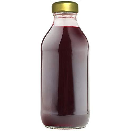 casavetro 12 x 333 ml Glasflaschen Milchflaschen Schraubverschluss Smoothie Saft Flaschen ÖL Essig (12 Stück)