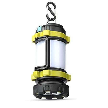【24時まで】Sy PMC 高輝度4000mAhUSB充電式防水LEDランタン 200m遠距離照射 1,088円送料無料!