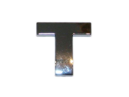 3D Chrombuchstabe T