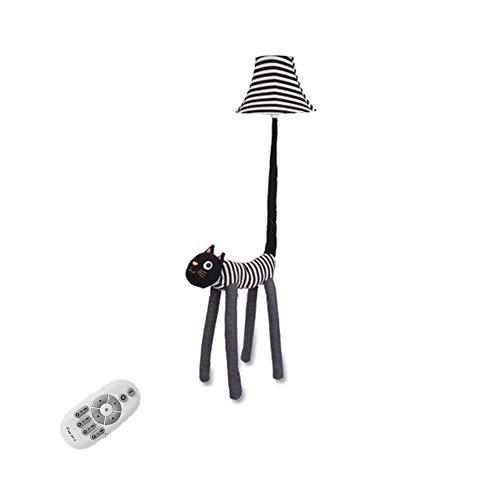 LY88 Licht Leuke Kat Creatieve Vloerlamp, cartoon Slaapkamer Woonkamer Kinderkamer Pastorale Stijl Stof Staande Lamp Afstandsbediening Dimbaar E27 Kleur : Bureau lamp