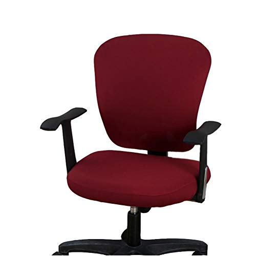 wonderfulwu Funda para silla de oficina, universal, extraíble, lavable, giratoria, color rojo