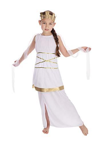 Bristol Novelty CC346 Costume de Déesse grecque pour fille, taille M, Âge 5–7 ans