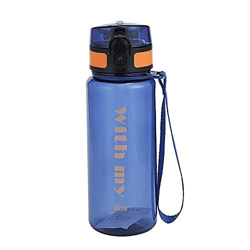 ZENING Botella de agua deportiva de 500 ml, taza deportiva portátil con escala, taza espacial de gran capacidad, para beber agua, para el hogar, al aire libre, camping