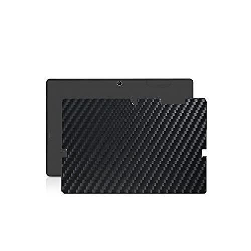 VacFun 2 Piezas Protector de pantalla Posterior, compatible con TrekStor SurfTab wintron 10.1', Película de Trasera de Fibra de carbono negra Skin Piel