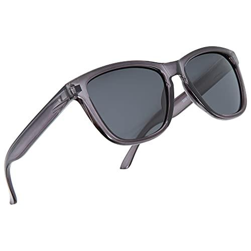 Amazon Brand – HIKARO Polarisierte Sonnenbrillen für Männer und Frauen Mattiertes Finish Sonnenbrille Farbige Linse 100{b43e419f00d3981c5d63d79d3d9d25505e7c3a1314c4714e7ae0f53c8f5ba7d9} UV-Blockierung