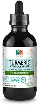 Turmeric Curcumin Tincture 4 fl oz Alcohol Free Liquid Extract Turmeric Root Curcuma Longa with product image