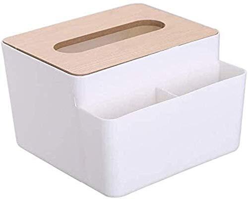 wangYUEQ Caja de dispensadores de toallitas, Soporte de Cubierta de Tejido de bambú para el Almacenamiento de Papel Facial para baño de Mesa de Comedor Dormitorio Organizador Rectángulo