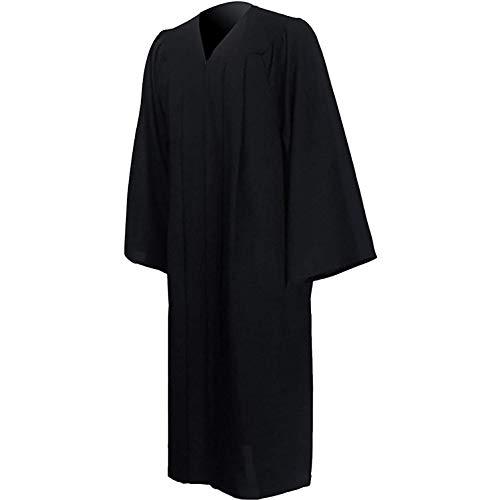 GraduatePro Graduación Toga Adulto Universidad 2021 Bachillerato Disfraz Regalo Hombre Mujer PhD Master Secundaria Negro