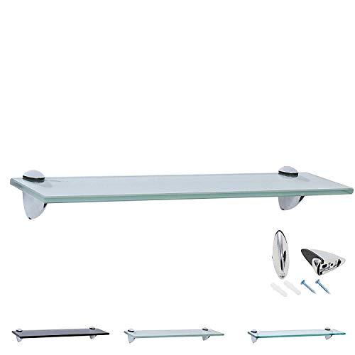 Rapid Teck Glas Wandregal Michglas Weiß Matt 40cm x 20cm - Glasregal mit 8mm ESG Sicherheitsglas - Glasregal perfekt als Badablage Glasablage für Badezimmer - Verschiedene Größen wählbar