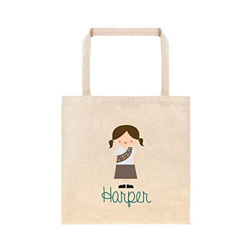 Brownie Girl Scout - Bolsa personalizada para el colegio