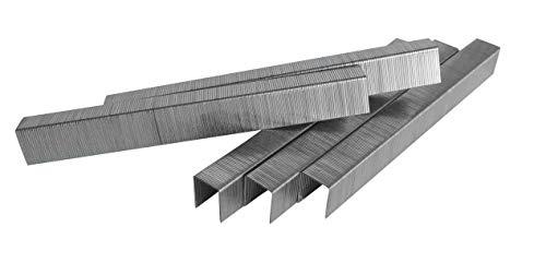 RIKAMA – robuste Tackerklammern Typ 53/8 zur Verwendung in Hand-, Druckluft- und Elektrotackern – 5000 Stück Heftklammern 8mm für den Gebrauch in Holz, Polstermöbeln, Span- und Rigipsplatten