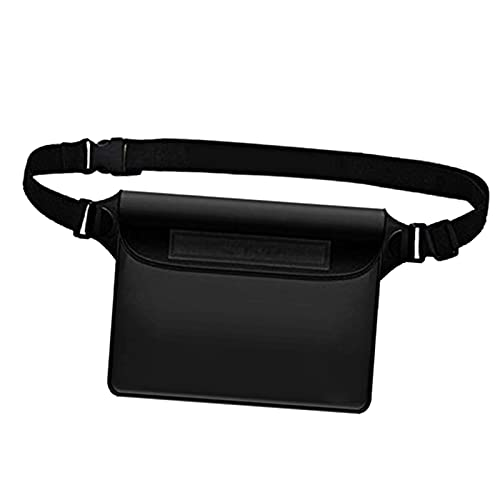 DYNWAVE Universal Waterproof Waist Bag Pouch Dry Bag, Keep Your Wallet Camera Beach MP3 Dry, for Swimming Rafting Boating Fishing Outdoor - Black