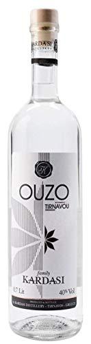 Ouzo Tirnavou Kardasi 0,7l 40% Vol. | Der einzige Ouzo ohne Zuckersirup | Mild im Geschmack, würzig im Abgang