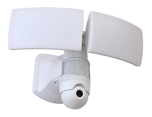 Eco Light LED-Kameraleuchte Libra, zur Überwachung Ihres Außenbereichs, zum Schutz Ihrer Kinder. 38 Watt LED- Lichtleistung 3000 lm, Kamera einstellbar mit App-Anbindung.