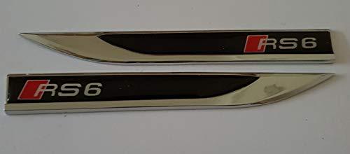 RS6 RS 6 SLINE S-LINE S LINE Paar metaal 3D opnieuw gemonteerd voertuig automerken Emblem Badge Decal Auto Deur Fender Side sticker Zwart alle modellen