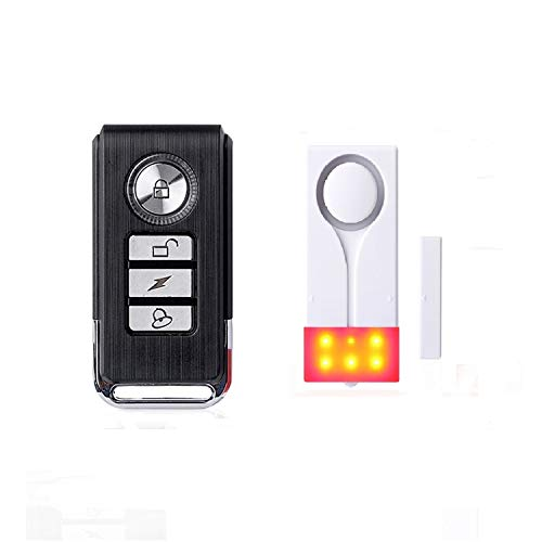 ECTECH Télécommande sans Fil Capteur de Porte et fenêtre Alarme sonore et lumière 1 télécommande + 3 capteurs