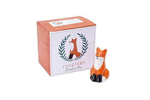 Ceramic Mini Lucky Charm Painted Ornament Fox | Comes Gift Boxed | From CGB Giftware's Fox and Fern's Range | GB05445