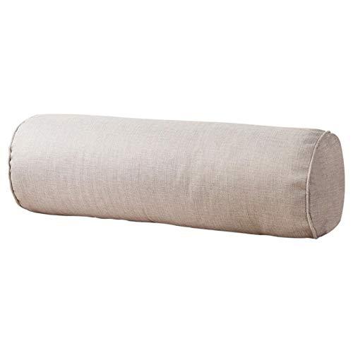 POHOVE Almohadas de cuello redondo rollo de almohada cervical, cómodo soporte cervical redondo de lino para dormir, con extraíble lavable, ergonómicamente diseñado para cabeza cuello espalda y piernas
