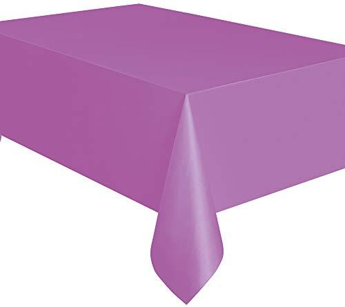 Kunststoff-Tischdecke, 2,74 x 1,37 m, violett, Einheitsgröße