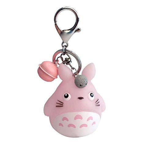 Christ For Givek Totoro Puppe Cartoon Schlüsselanhänger und Glocke Abnehmbare PVC Schlüsselanhänger Spielzeug Geschenk für Kinder - H01