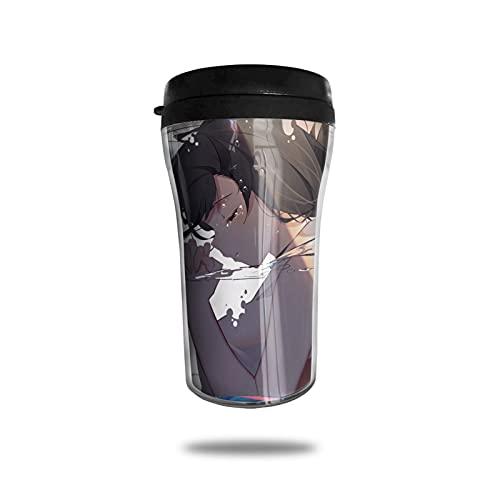 Taza de café con aislamiento al vacío, taza termo de doble pared, taza de viaje, bebida de viaje, viaje, trabajo, conveniencia