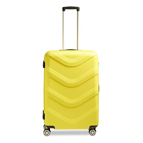 STRATIC Arrow 2 Hard Shell Suitcase Trolley Travel Suitcase Trolley Suitcase 4 Wheels TSA Combination Lock Size L Yellow