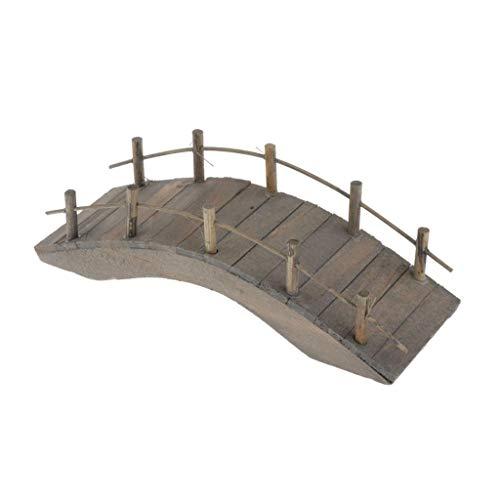 Toygogo Puente Arqueado de Casa de Muñecas / Puente de Madera en Miniatura Dollhousepara Decoración Pequeño Jardín - Grande