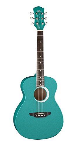 Luna Aurora Borealis 3/4-Size Acoustic Guitar - Teal Pearl