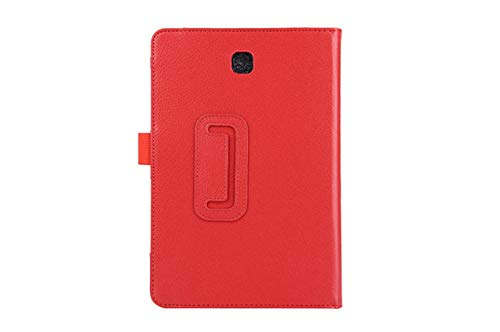 Tablet Case For Samsung Galaxy Tab A T550 T555 SM-T550 9.7 Stand PU Leather Smart Cover Case Protector-Red