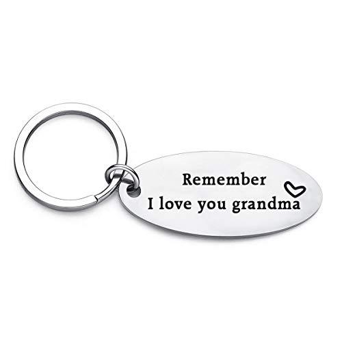 XGAKWD Mother's Day Keychain Gifts for Grandma - Remember I Love You Grandma Jewelry, Birthday Christmas Key Chain Gift for Grandmother