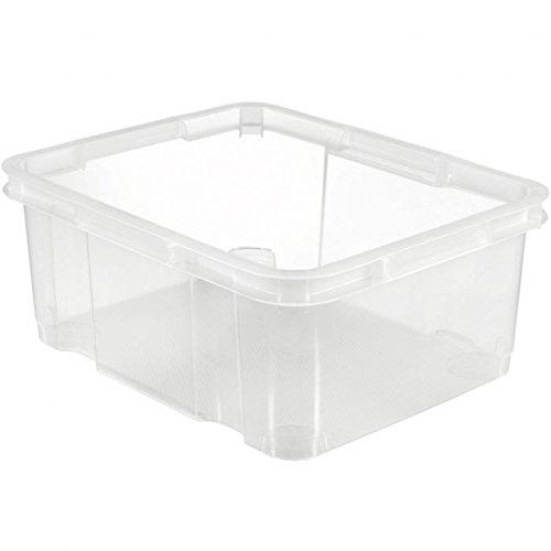 CURVER | Unibox 20L empilable, Transparent, 42,5 x 34,5 x 17,7 cm, Plastique