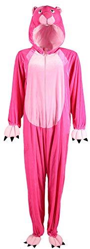 Foxxeo Panther Kostüm für Erwachsene Damen Herren Tier Overall Tierkostüm Größe S-XXXL - Fasching Karneval, Größe:S