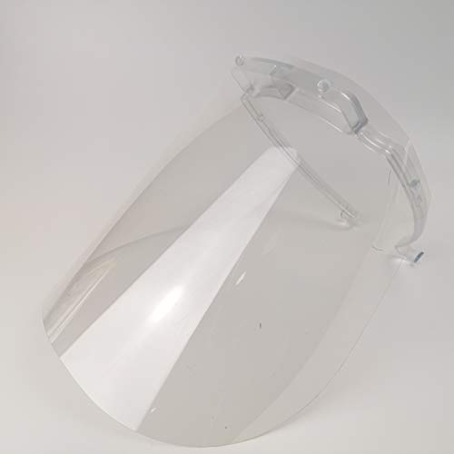 2x Clear PPECollective Reusable Transparent Face Shields for Infection Control | Made in the UK | Suitable for Glasses | CE Certified | Easy to Clean | Highly Transparent |