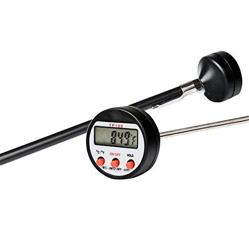 DEALBUHK Termómetro electrónico de lectura instantánea de alimentos herramienta de cocina para aceite, agua, leche, temperatura doméstica, cocina de alta temperatura, tipo pin de salud y seguridad
