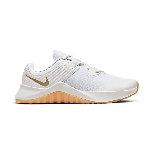 Nike MC Trainer Women's Training Shoe, Entrenador. Mujer, White Mtlc Gold Star Platinum Tint, 40 EU