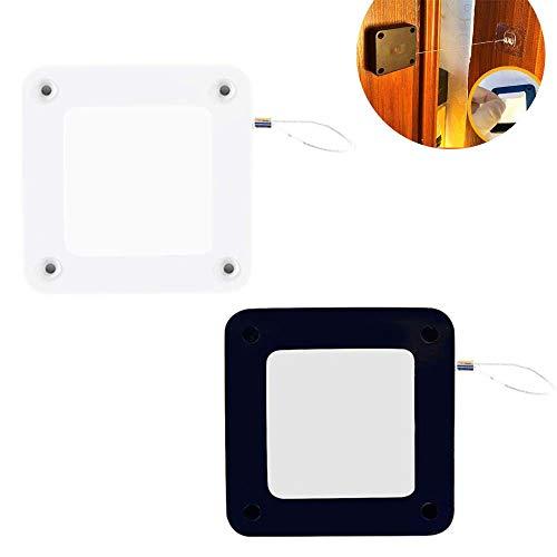 2 Stk Stanzfreier Automatischer Sensortürschließer, Multifunktionaler Türschließer mit Selbstzugleitung, Automatisch für alle Türen schließend