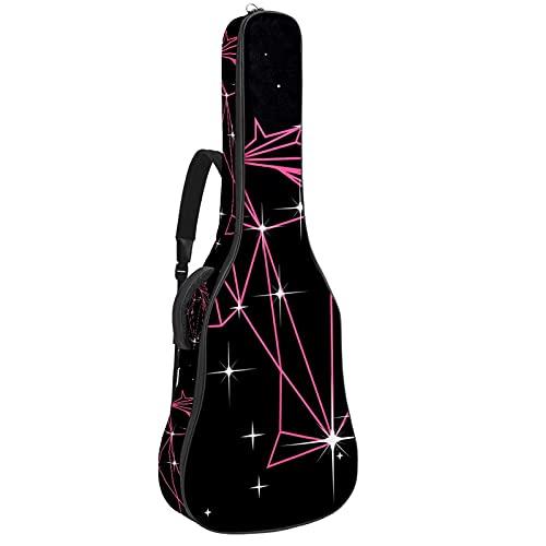 Paquete de guitarra acústica para principiantes, tamaño completo, con tapa de abeto, para guitarra acústica, unicornio geométrico, 42,9 x 42,8 x 11,9 cm