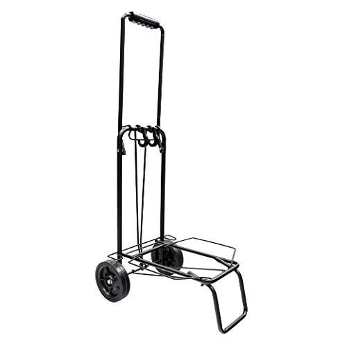 ORYX Carretilla Plegable Metalica De Carga - Porta Maletas Con Cuerda Elastica 93,5x33x44 cm. Carro De Transporte 50 Kg.